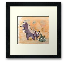 stunky and trubbish pokemon Framed Print