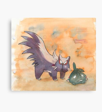 stunky and trubbish pokemon Canvas Print