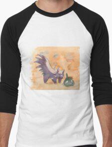 stunky and trubbish pokemon Men's Baseball ¾ T-Shirt