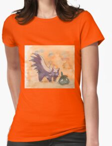 stunky and trubbish pokemon Womens Fitted T-Shirt