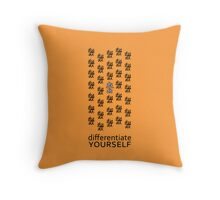 Differentiate Yourself (Light Shirt) Throw Pillow
