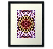 Sunflower in the wind Framed Print