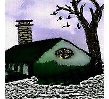 The Rustic Village Hut Photographic Print