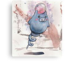 spoink the pig Canvas Print
