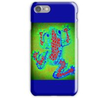Psychedelic Green Frog, Mosaic iPhone Case/Skin