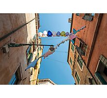 Cloth drying rope. Photographic Print