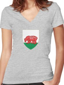 Coat of Arms of Madrid, 1212-1222 Women's Fitted V-Neck T-Shirt
