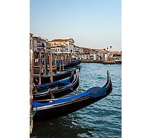Gondolas in Venice. Photographic Print
