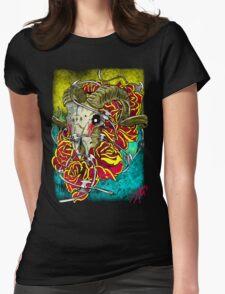 ram skull Womens Fitted T-Shirt