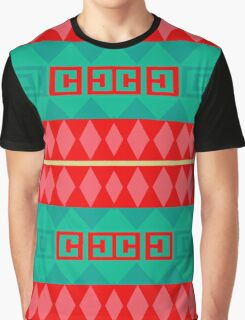 Rhombus stripes and other shapes Graphic T-Shirt