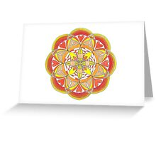Vetruvian Mandala Greeting Card