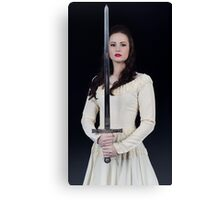 The Lady and the Sword Canvas Print