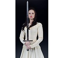 The Lady and the Sword Photographic Print