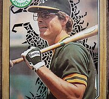 067 - Bruce Bochte by Foob's Baseball Cards