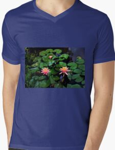 Water Lilies In Armenia, Colombia Mens V-Neck T-Shirt