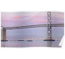 Willie Brown Bridge at Dusk Poster