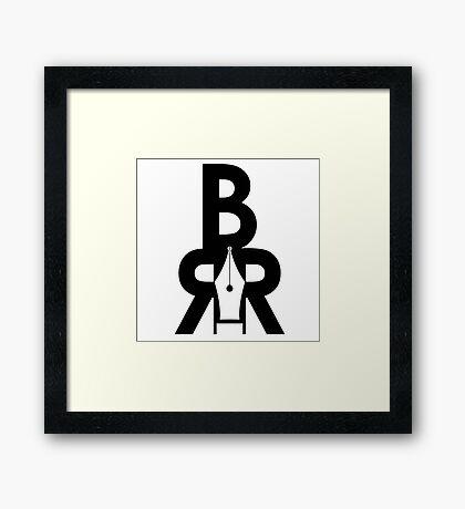 Battle Rap Résume Logo Framed Print