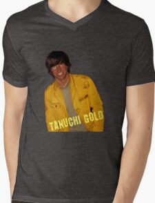 Tanuchi Gold Mens V-Neck T-Shirt