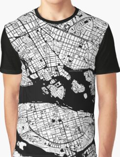 Stockholm city map engraving Graphic T-Shirt