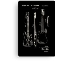 Fender Telecaster Guitar Patent 1953 Canvas Print