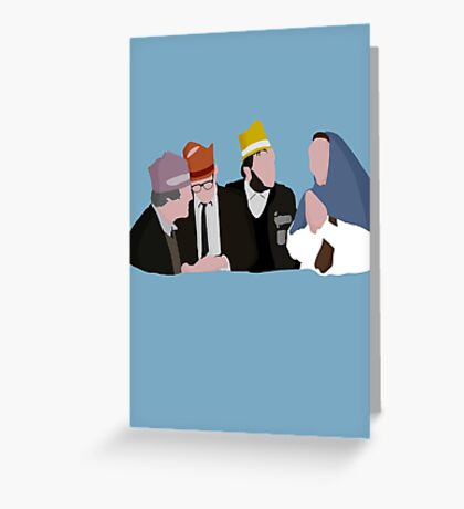 Bottom 'Christmas' design Greeting Card
