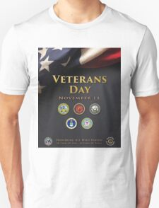 Veterans Day Armed Forces Poster Unisex T-Shirt
