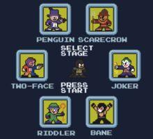 8-bit Batman Select Screen Shirt Kids Clothes