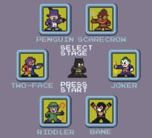 8-bit Batman Select Screen Shirt Kids Clothes
