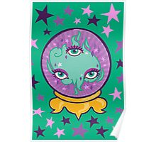 Crystal Ball Call in green Poster