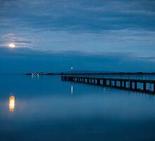 Moonrise Over Bay by Mark Eden