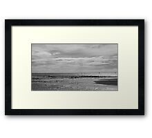 Sailboats Surfers And Seagulls Framed Print