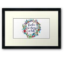 Females Are Strong as Hell Floral Framed Print