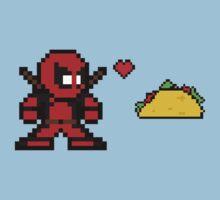 8-bit Deadpool Loves Tacos Sprite Kids Clothes