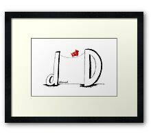 D is for Determined  Framed Print