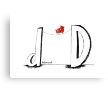 D is for Determined  Canvas Print