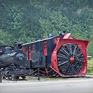 Narrow guage Engine and snowblower inSkagway Alaska by Yukondick