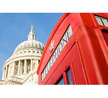 St Pauls And Phone Box Photographic Print