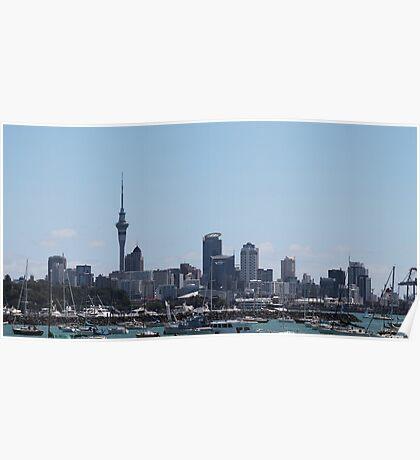 NZ Auckland New Zealand Poster