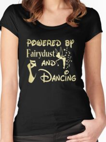 Powered by fairydust and dancing Tshirt Women's Fitted Scoop T-Shirt