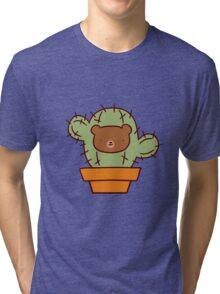 Bear Face Cactus Tri-blend T-Shirt