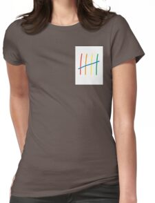 Rainbow 5  Womens Fitted T-Shirt