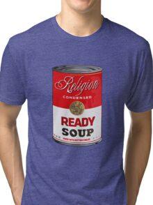 warhol religion condensed soup Tri-blend T-Shirt