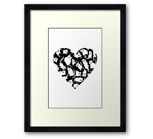 Crazy Cat Heart  Framed Print