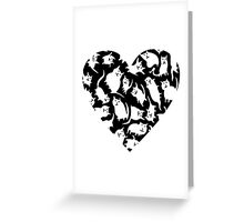 Crazy Cat Heart  Greeting Card