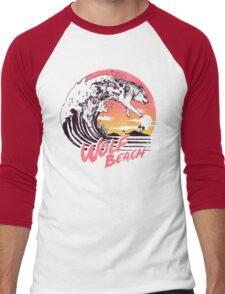 Wolf Beach Men's Baseball ¾ T-Shirt