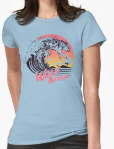 Wolf Beach Womens Fitted T-Shirt