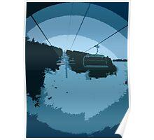 Ski Lift Abstract Poster