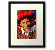 Moroccan Water Seller Framed Print