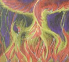 Phoenix Lotus Rising Sticker