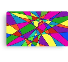 Geometric Color Quilt Canvas Print